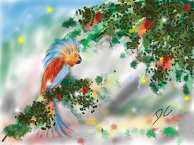 Digital Art - Parrot Abstract 2 by Darren Cannell