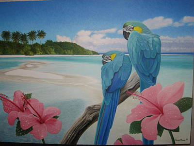 Daniel Pierce Painting - Parrot Beach by Daniel Pierce