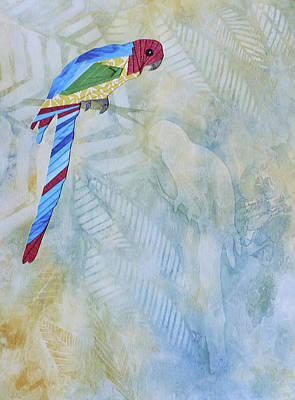 Mixed Media - Parrot by Cecilia Swatton