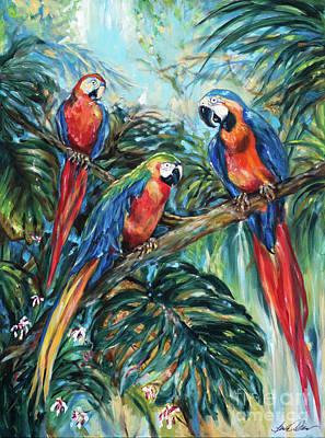 Painting - Parrot Choir by Linda Olsen