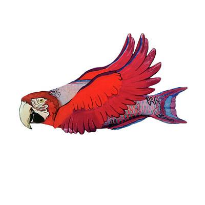 Parrot-fish Art Print