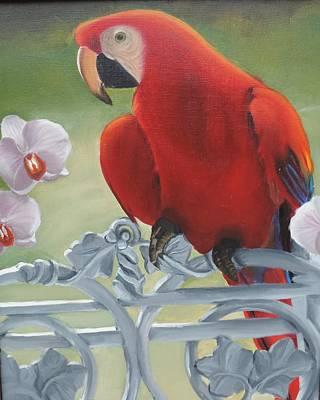 Parrot Art Print by Katiana Valdes