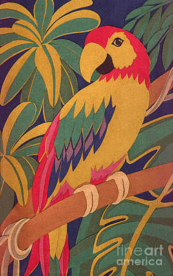 Parrot Art Print by Lucyna A M Green