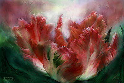 Mixed Media - Parrot Tulip 3 by Carol Cavalaris