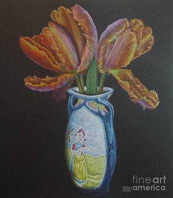 Drawing - Parrot Tulips by Lisa Bliss Rush