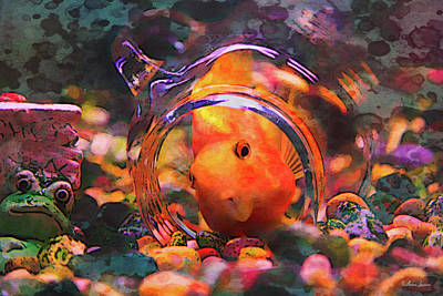 Parrotfish Digital Art - Parrotfish Play by Anna Louise