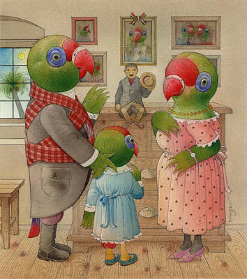 Parrots 03 Original by Kestutis Kasparavicius
