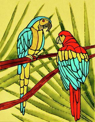 Painting - Parrots by Farah Faizal