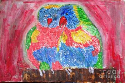 Painting - Parrots by Victoria Hasenauer