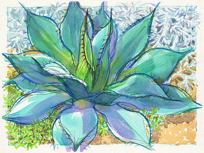 Painting - Parrys Agave by Judith Kunzle