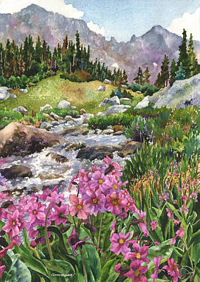 Water Scene Painting - Parry's Primrose by Anne Gifford