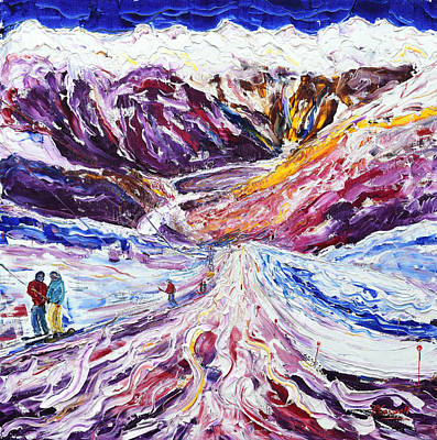 Painting - Parsennmader T Bar Klosters by Pete Caswell