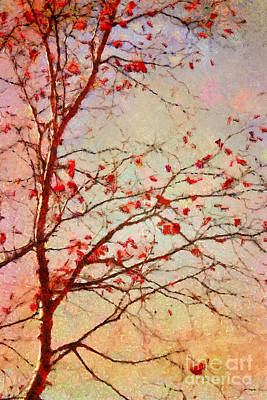 Red Tree Digital Art - Parsi-parla - D04c03t01 by Variance Collections