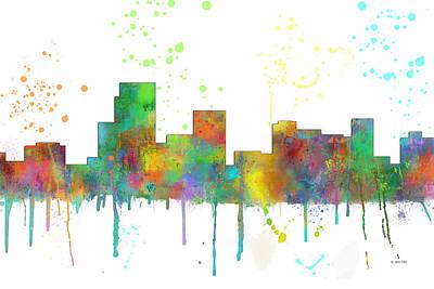 Nj Digital Art - Parsippany New Jersey Skyline by Marlene Watson