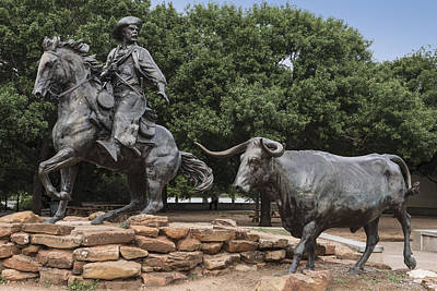 Photograph - Part Of Robert Summers's Sculpture Titled The Waco Chisholm Trail Heritage by Carol M Highsmith