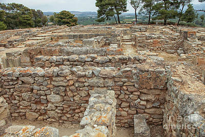 Photograph - Part Of The Ancient Minoan City Of Phaistos In Crete by Patricia Hofmeester