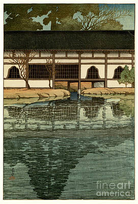 Part Of Painting - Part Of The Byodo-in Temple by Celestial Images