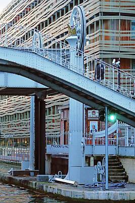 Photograph - Part Of The Pont De Flandre Lift Bridge In The 19th Arrondissement In Paris, France by Richard Rosenshein