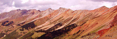 Art Print featuring the photograph Part Of The San Juan Mountains Colorado by Roena King