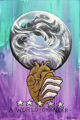 Art Print featuring the painting Partakers Of His Heart by Nathan Rhoads