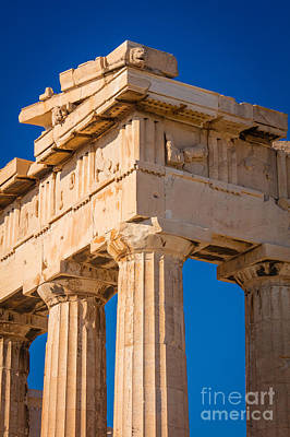 Photograph - Parthenon Columns by Inge Johnsson