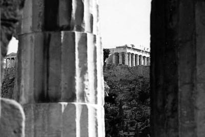 Parthenon From The Temple Of Hephaistos Athens Art Print by Susan Chandler
