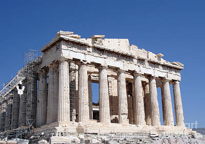 Greek Temple Photograph - Parthenon Front Facade by Jane Rix