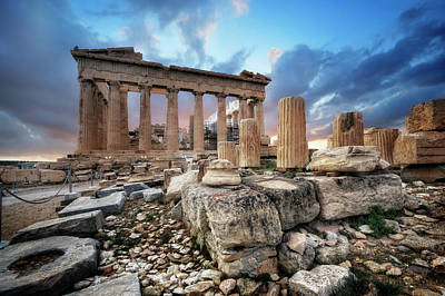 Photograph - Parthenon Of Acropolis by Yhun Suarez