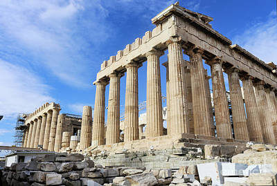 Photograph - Parthenon On Acropolis In Athens Greece by Susan Vineyard