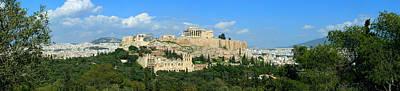 Kids Alphabet - Parthenon The Acropolis Athens Greece Panoramic photo 70 Degrees by Vassilis Triantafyllidis