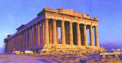 Painting - Parthenon by Troy Caperton