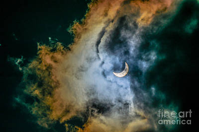Photograph - Partial Eclipse Of The Sun by TK Goforth