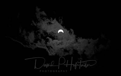 Partial Eclipse, Signed. Art Print