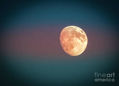 Partial Moon Print by Claudia M Photography