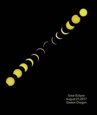 Photograph - Partial Solar Eclipse by Jean Noren