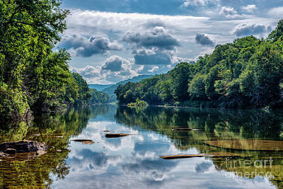Photograph - Partially Cloudy Gauley River by Thomas R Fletcher