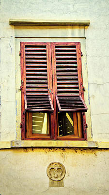 Photograph - Partially Shuttered Window In Venice by Gary Slawsky