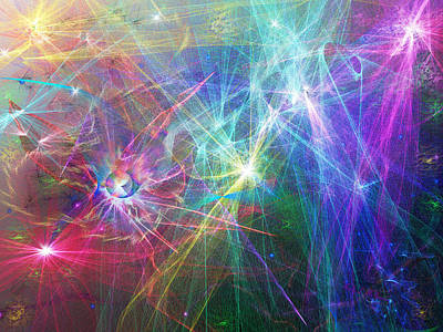 Digital Art - Particle Space Art by Wendy McKennon