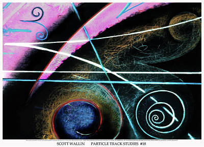 Other Painting - Particle Track Study Eighteen by Scott Wallin