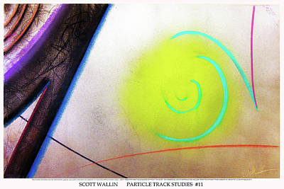 Other Painting - Particle Track Study Eleven by Scott Wallin
