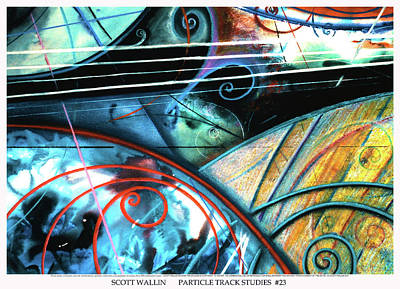 Particle Track Study Twenty-three Art Print by Scott Wallin