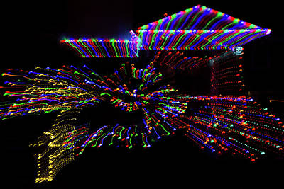 Photograph - Particolored Christmas Abstract by Georgia Mizuleva