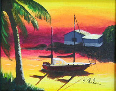 Painting - Particular Harbor by Tony Baker