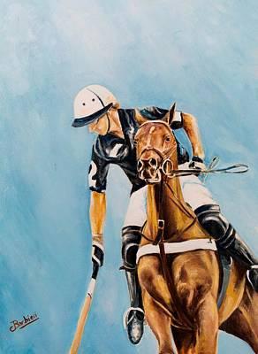 Polo Painting - Partido by Carlos Jose Barbieri
