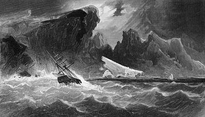 Storm Drawing - Parting Hawsers Off Godsend Ledge From by Vintage Design Pics