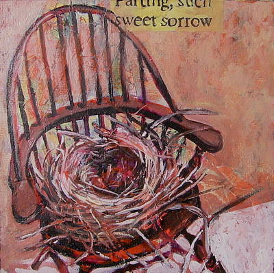 Print featuring the painting Parting Is Such Sweet Sorrow by Tilly Strauss