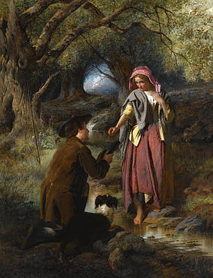 Painting - Parting Of Burns And His Highland Mary by William Henry Midwood