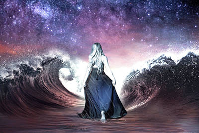 Digital Art - Parting The Waves by Lisa Yount