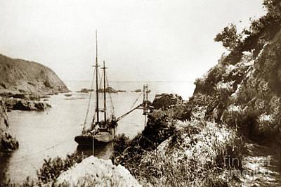 Photograph - Partington Cove On The Big Sur Coast Circa 1903 by California Views Mr Pat Hathaway Archives