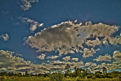 Photograph - Partly Cloudy by David Stasiak